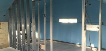 Steel stud wall partitions