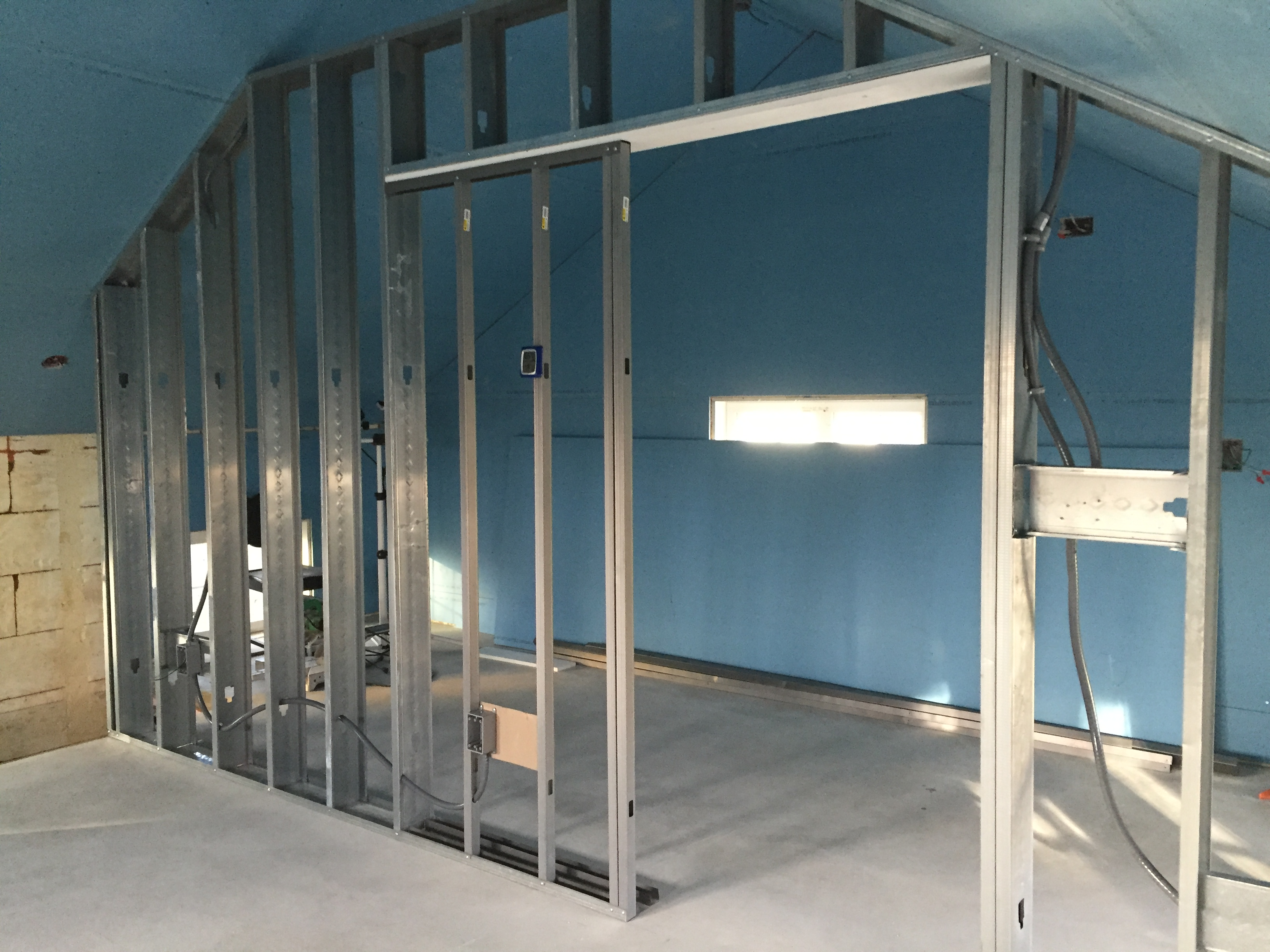 Metal Stud Partition Walls : Steel studs « the house on third street
